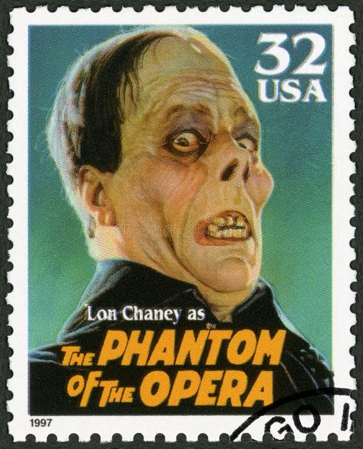 США - 1997: показывает портрет Leonidas Франка Lon Chaney 1883-1930 как фантом оперы, изверги кино серии классические стоковые фото