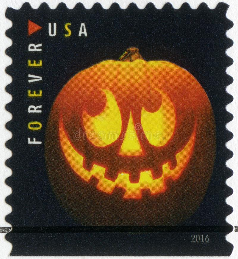 США - 2016: посвященный хеллоуин, ` Джека o - фонарики, фонарик тыквы стоковые фото
