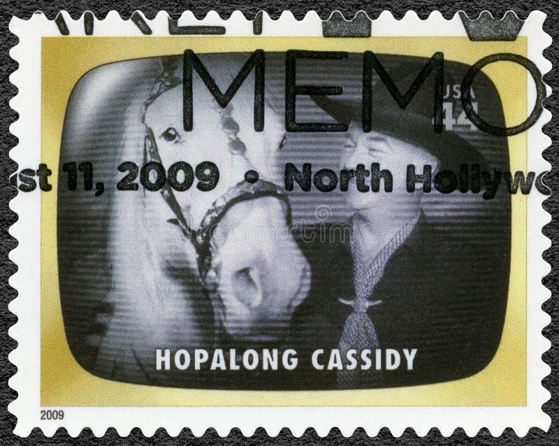 США - 2009: шоу Hopalong Cassidy, предыдущая память ТВ стоковые изображения rf