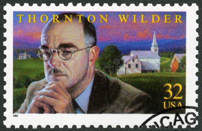 США - 1997: шоу Thornton Niven более дикое 1897-1975, американский драматург и романи стоковое изображение