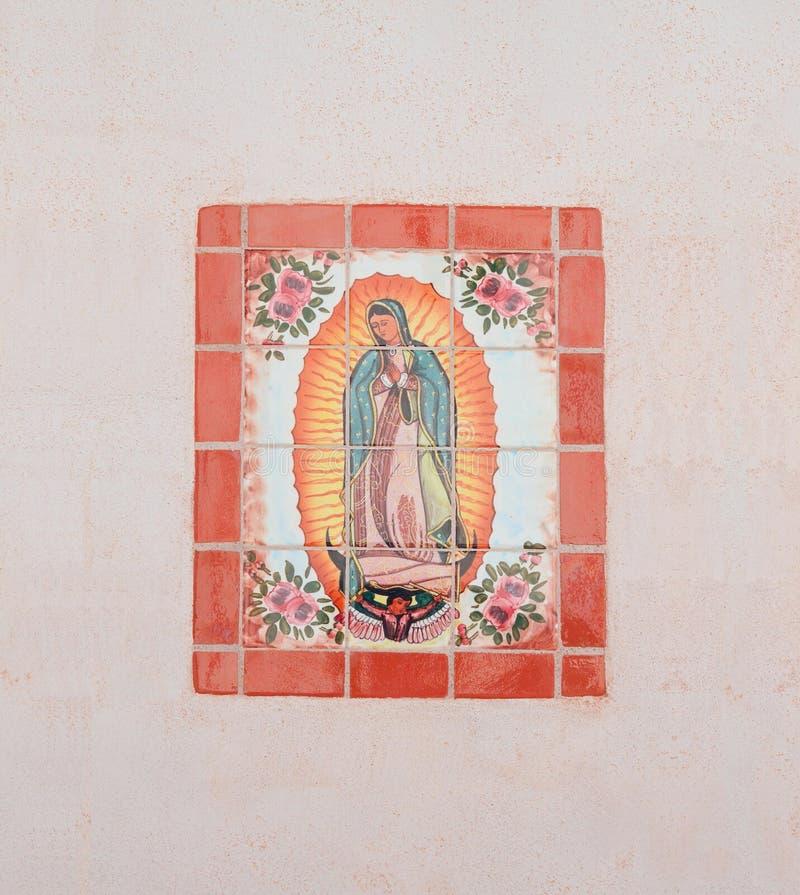 США, AZ/Tucson: Наша дама Guadalupe - мозаики стоковое фото