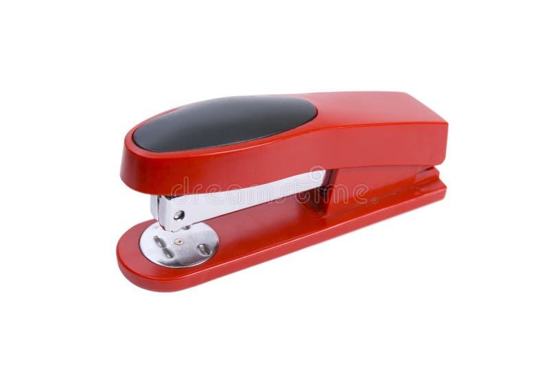 сшиватель красного цвета офиса стоковые изображения