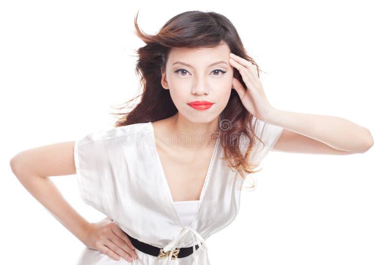 съемка азиатского способа красотки женская модельная стоковые фото