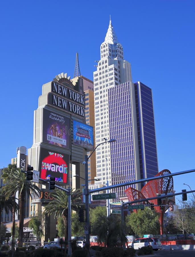 Съемка гостиницы & казино Нью-Йорка Нью-Йорка стоковое изображение rf