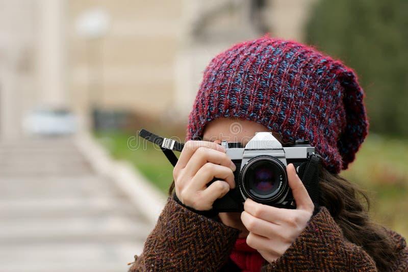 съемка девушки стоковое фото