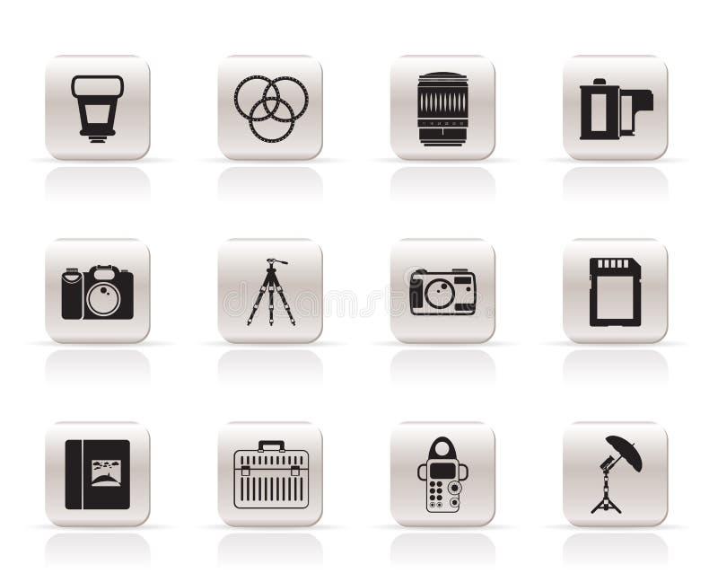 съемка икон оборудования иллюстрация вектора