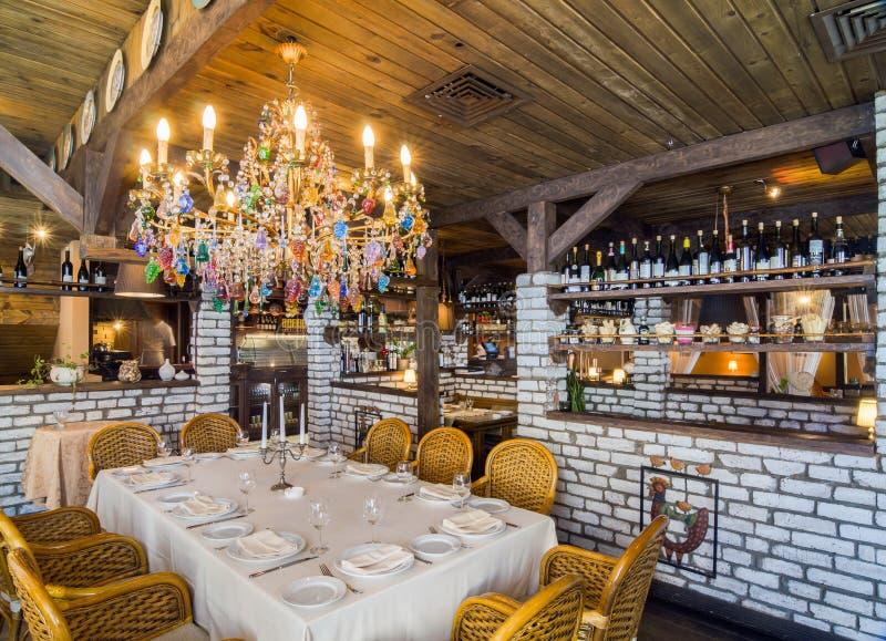 Съемка интерьера ресторана стоковые фотографии rf