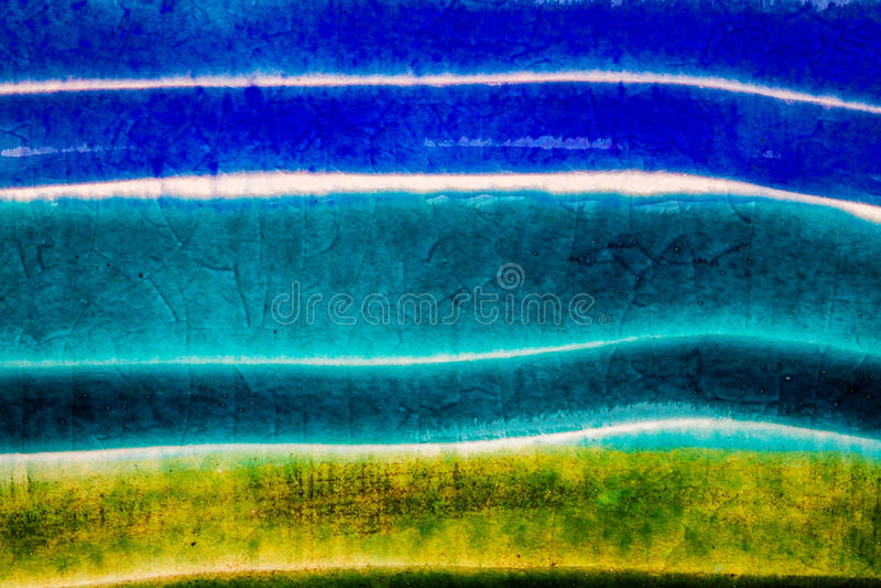 Съемка крупного плана застекленной текстуры керамики стоковая фотография