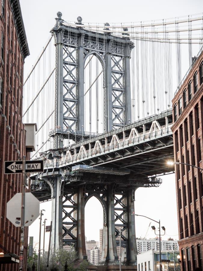 Съемка моста Манхэттена стоковые фотографии rf