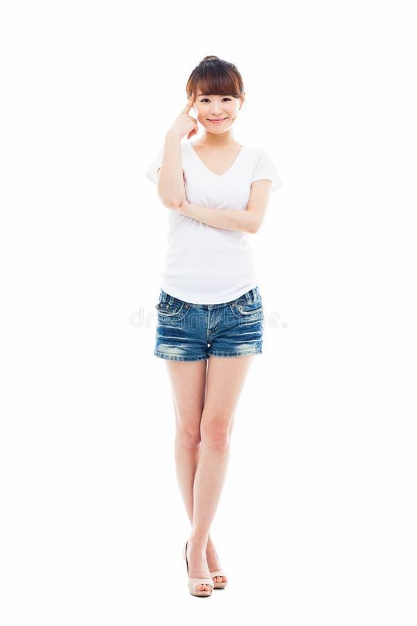 Съемка молодой азиатской женщины полная стоковые фото