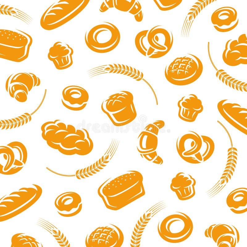 съемка рамки хлеба предпосылки полная вектор иллюстрация штока