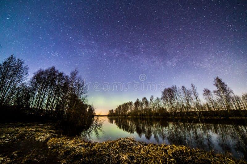 съемка реки ночи стоковое фото