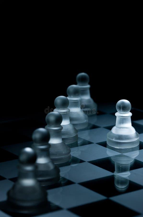 съемка стеклянного макроса шахмат установленная стоковые изображения