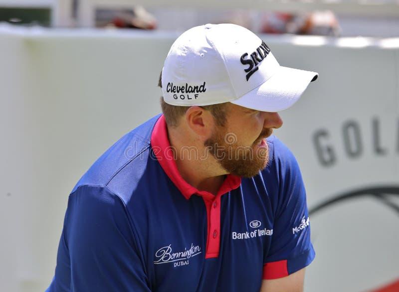 Съемка тройника Шейна Lowry Pro игрока в гольф стоковое изображение rf
