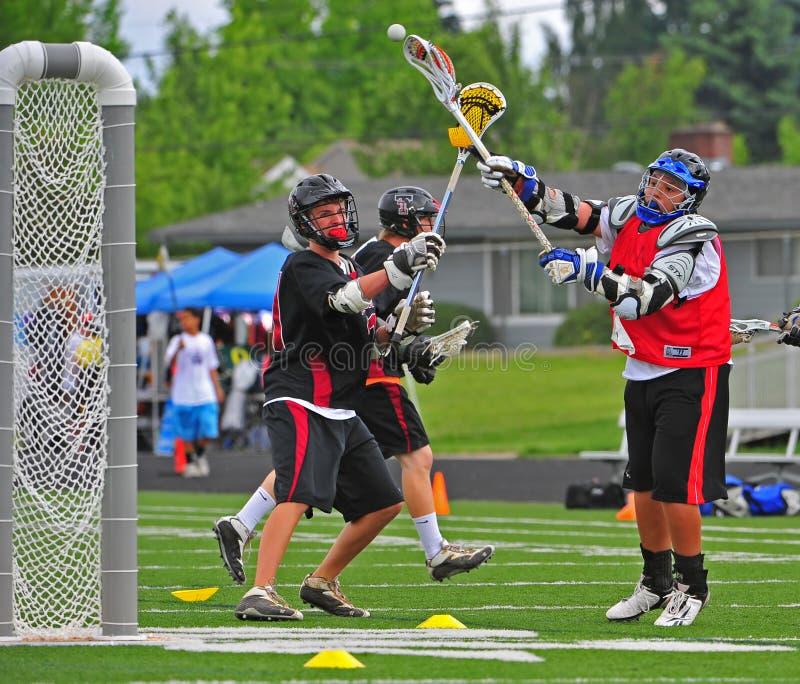 съемка lacrosse цели chumash стоковое изображение