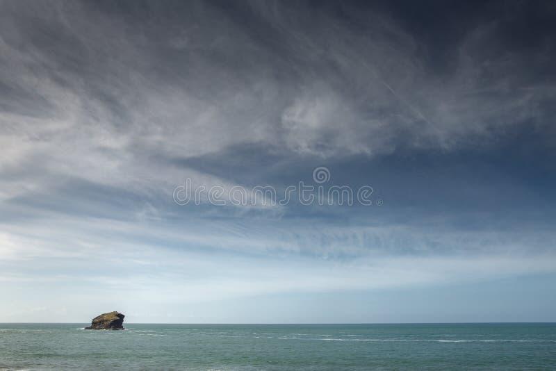 Съемка seascape Portreath стоковое изображение rf