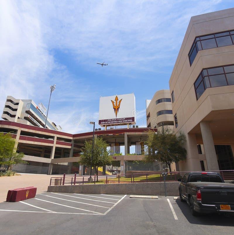 Съемка Sun Devil Stadium, Tempe, Аризона стоковая фотография