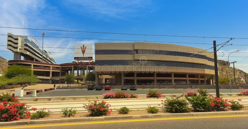 Съемка Sun Devil Stadium, Tempe, Аризона стоковое изображение