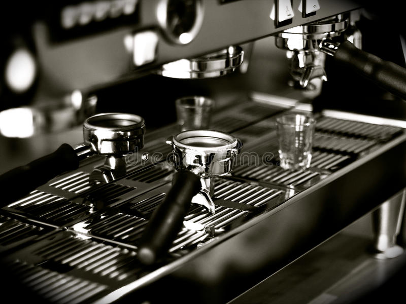 съемки espresso стоковая фотография