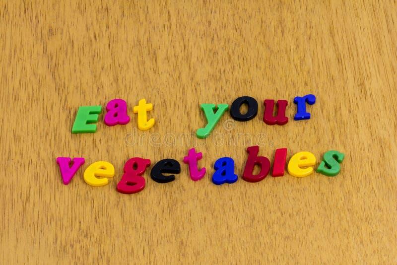 Съешьте вашу еду привычки в еде плода овощей стоковые фото