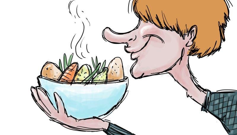 Съешьте иллюстрацию овощного супа иллюстрация штока