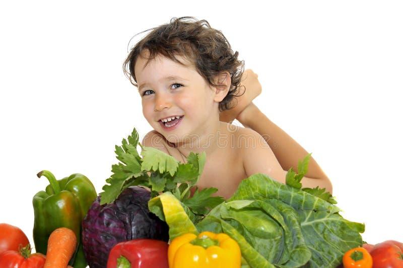 съешьте овощи стоковое изображение rf
