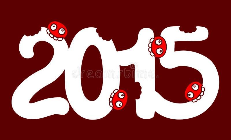 Съешьте 2015 иллюстрация штока