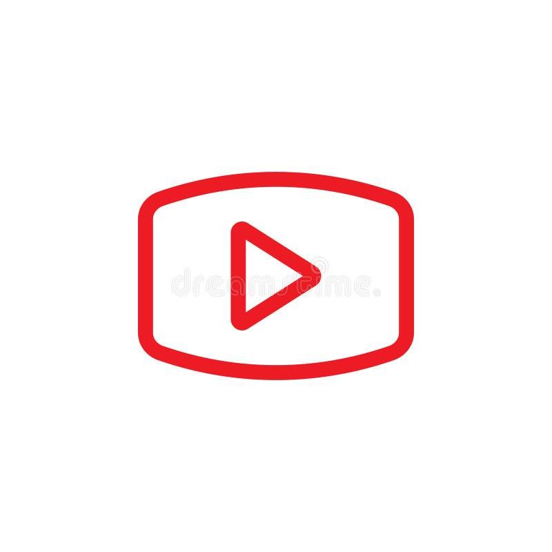 Сыграйте видео- вектор шаблона графического дизайна значка иллюстрация штока