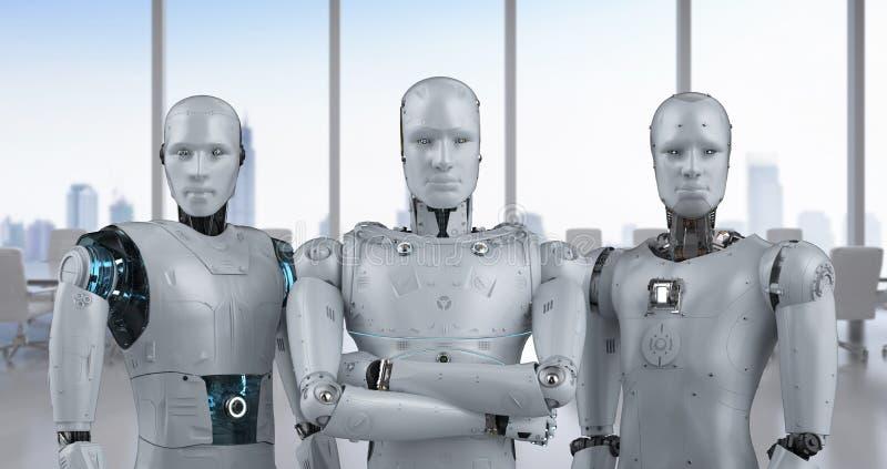 Сыгранность искусственного интеллекта иллюстрация вектора