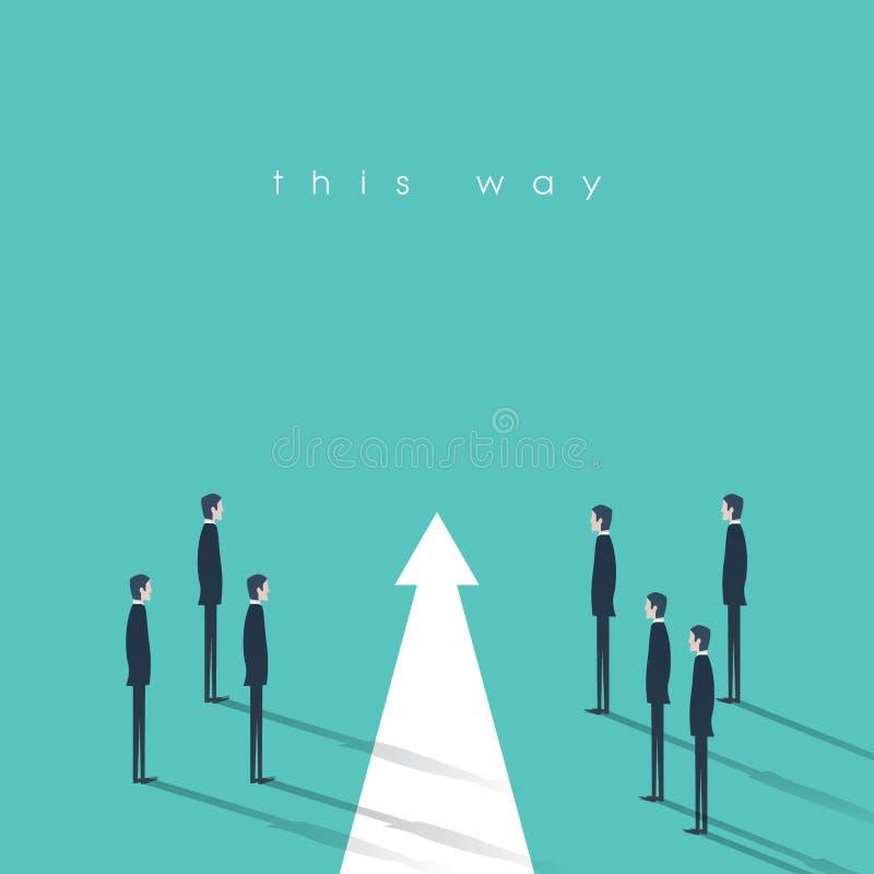 Сыгранность и иллюстрация вектора концепции дела руководства Символ решительности, правого решения, планирования, стратегии иллюстрация штока