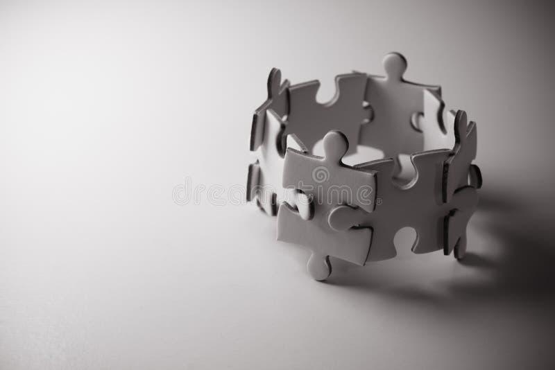 Сыгранность концепции головоломки стоковое фото rf