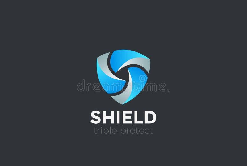 Сыгранность экрана защищает вектор дизайна логотипа обороны иллюстрация вектора