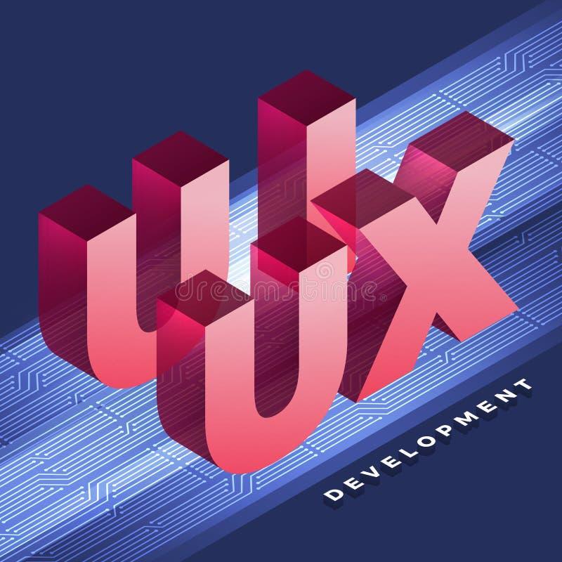 Сыгранность UI/разработчик UX иллюстрация вектора