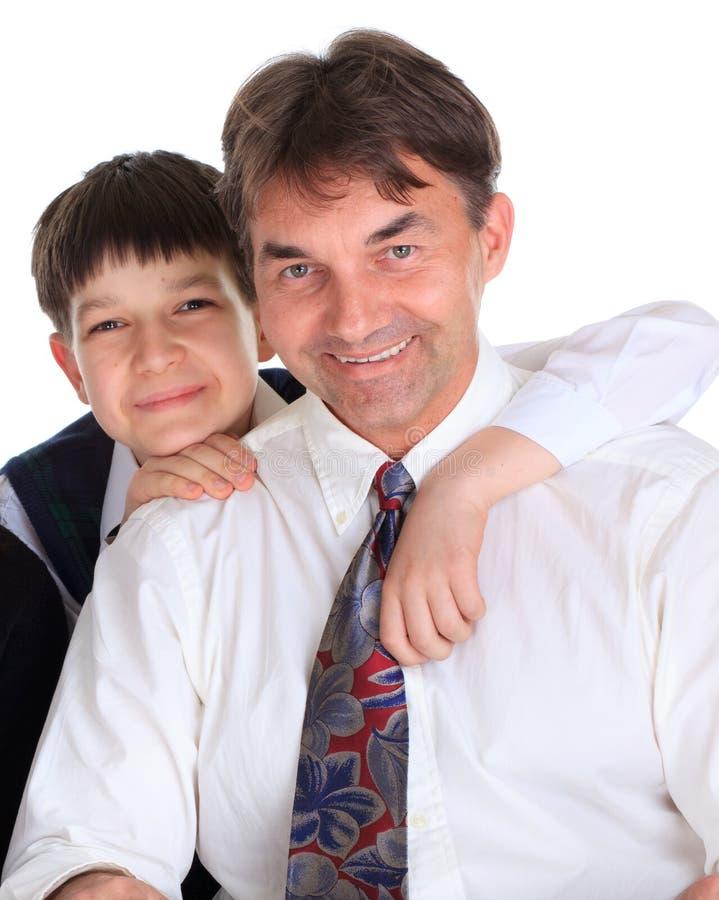сынок отца счастливый стоковые изображения rf
