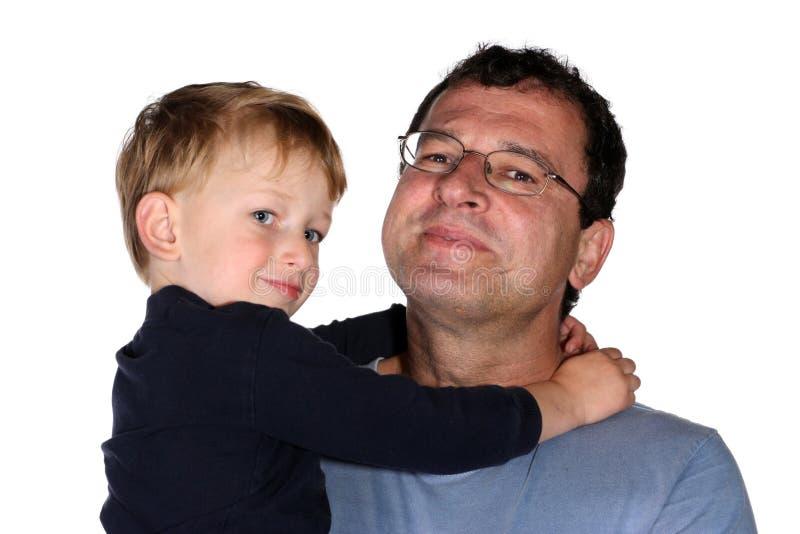 сынок отца стоковая фотография