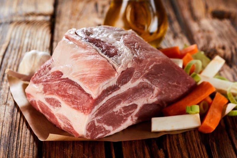 Сырое сырцовое филе свинины жаркого стоковые фото