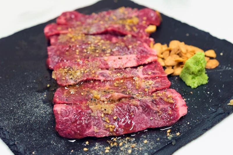 Сырцовая закваска говядины стоковое фото