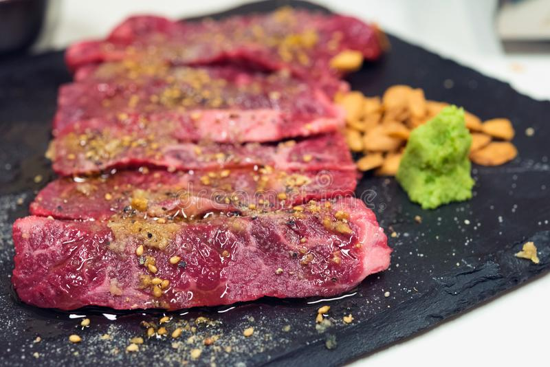 Сырцовая закваска говядины стоковые фото