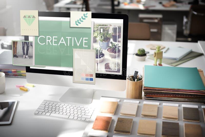 Сырцовая творческая концепция идей дизайна стоковое фото rf