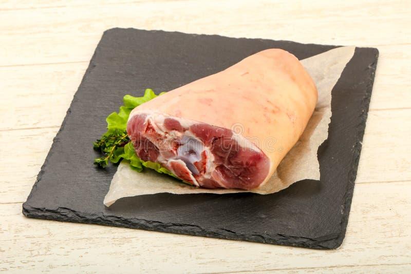 Сырцовое колено свинины стоковые изображения