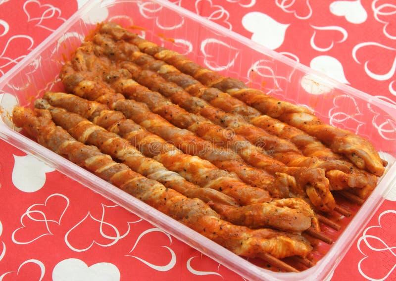 Сырцовое мясо свинины с маринадом стоковые фотографии rf