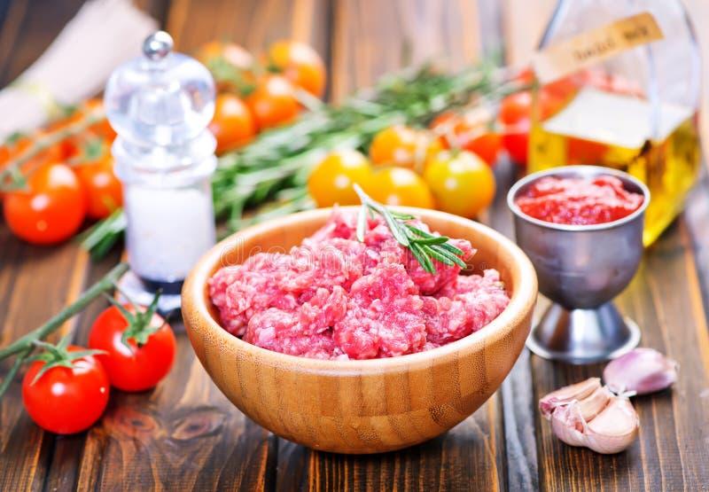 сырцовое ое мясом стоковое фото