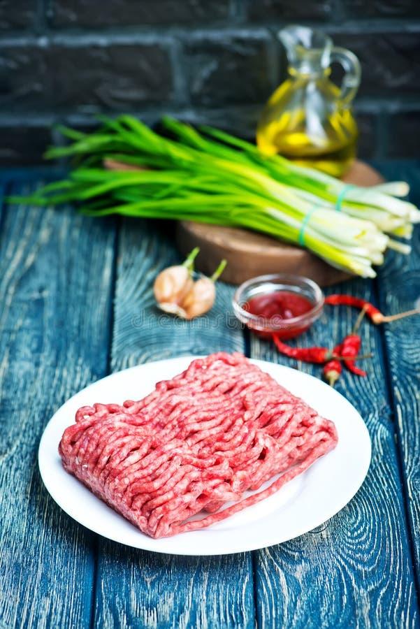 сырцовое ое мясом стоковое изображение