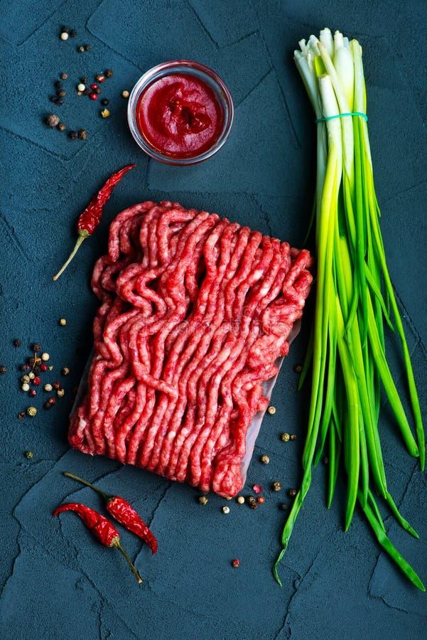 сырцовое ое мясом стоковое изображение rf