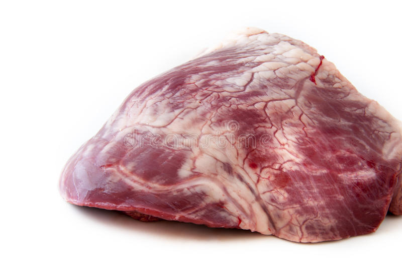 Сырцовое сердце говядины - мясо стоковые фото