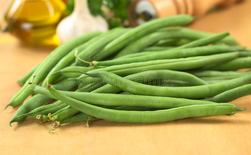 сырцовое фасолей зеленое стоковая фотография rf