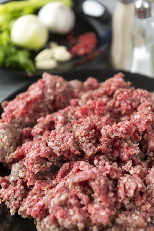 Сырцовой мясо семенить свининой, сырцовая свинина семенить мясо стоковое изображение
