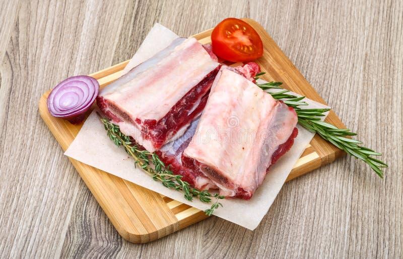 Сырцовые нервюры говядины стоковые изображения rf