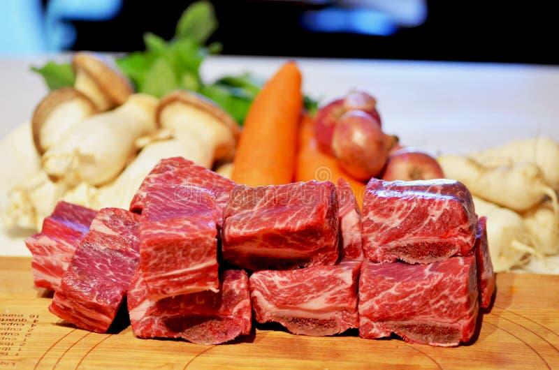 Сырцовые нервюры говядины стоковая фотография rf