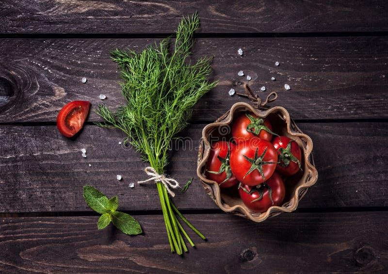 Сырцовые овощи и травы стоковые фотографии rf